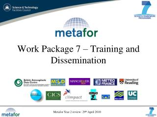 Work Package 7 – Training and Dissemination