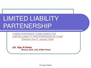 LIMITED LIABILITY PARTENERSHIP