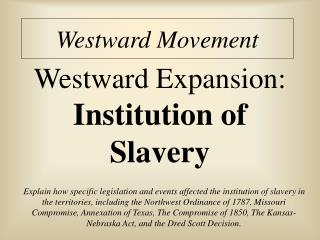 Westward Movement