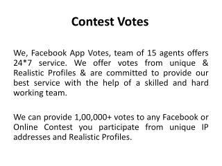 Contest Votes