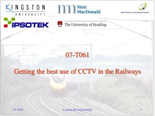 07-T061 Getting the best use of CCTV in the Railways