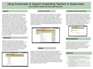 Using Screencasts to Support Cooperating Teachers in eSupervision