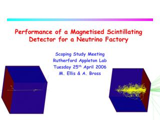 Performance of a Magnetised Scintillating Detector for a Neutrino Factory