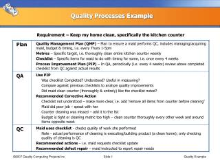 Quality Processes Example