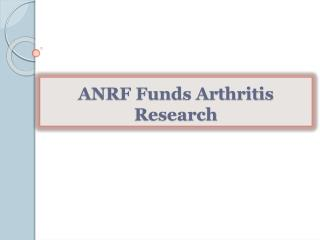 ANRF Funds Arthritis Research