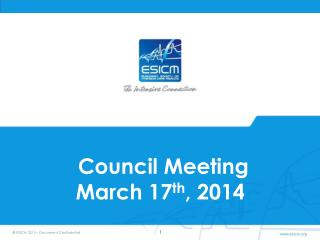 C ouncil Meeting  March 17 th , 2014