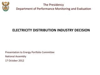 Presentation to Energy Portfolio Committee National Assembly  17 October 2012