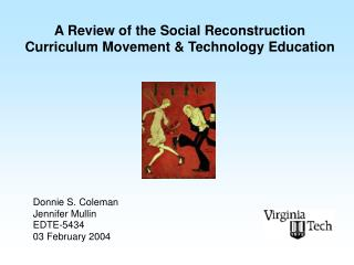 A Review of the Social Reconstruction Curriculum Movement & Technology Education