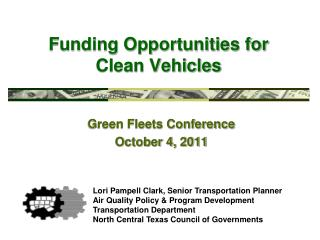 Funding Opportunities for  Clean Vehicles
