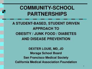 COMMUNITY-SCHOOL PARTNERSHIPS