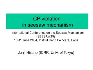 CP violation  in seesaw mechanism