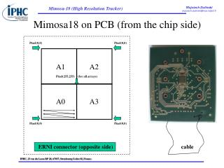 Mimosa18 on PCB (from the chip side)