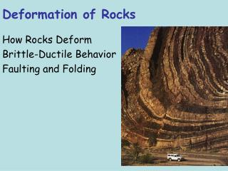 Deformation of Rocks