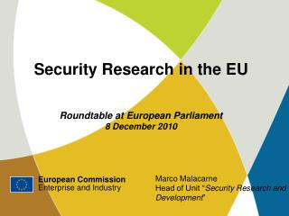 European Commission Enterprise and Industry