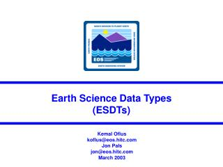 Earth Science Data Types (ESDTs)