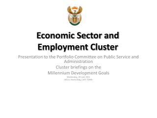 Economic Sector and Employment Cluster