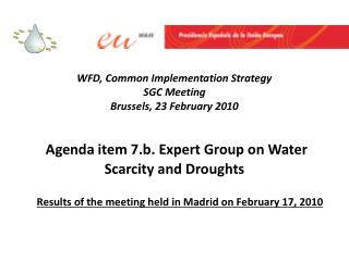 Results of the meeting held in Madrid on February 17, 2010