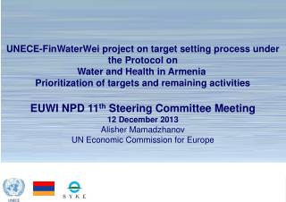UNECE-FinWaterWei project on target setting process under the Protocol on