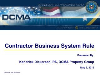 Contractor Business System Rule