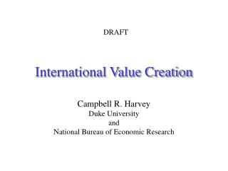 International Value Creation