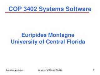 COP 3402 Systems Software