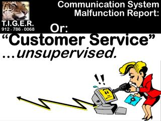 Communication System Malfunction Report: