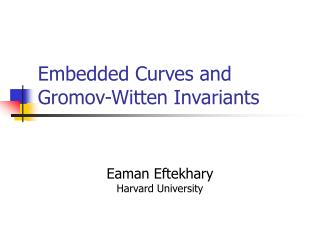 Embedded Curves and Gromov-Witten Invariants