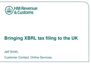 Bringing XBRL tax filing to the UK