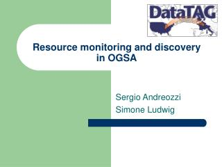 Resource monitoring and discovery  in OGSA