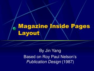 Magazine Inside Pages Layout