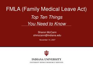 FMLA (Family Medical Leave Act)