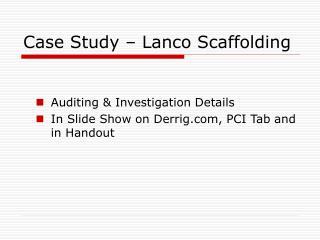 Case Study – Lanco Scaffolding