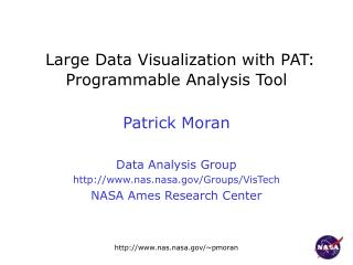 Large Data Visualization with PAT: Programmable Analysis Tool