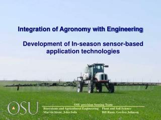 Integration of Agronomy with Engineering