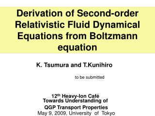 Derivation of Second-order Relativistic Fluid Dynamical Equations from Boltzmann equation