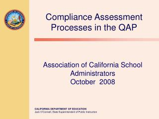 Association of California School Administrators October  2008