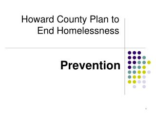 Howard County Plan to End Homelessness