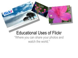 Educational Uses of Flickr