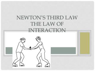 Newton's Third Law The Law of Interaction