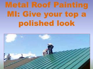 Metal Roof Painting MI: Give your top a polished look