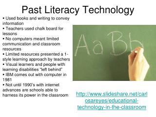 Past Literacy Technology