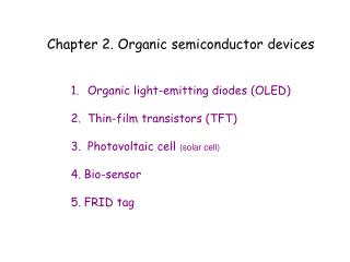 Chapter 2. Organic semiconductor devices