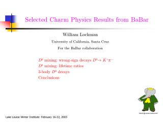 Selected Charm Physics Results from BaBar