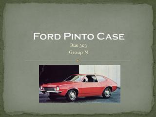 Ford Pinto Case