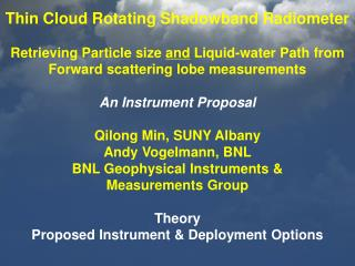 Forward scattering lobe & particle size