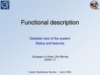 Functional description