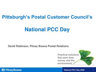 Pittsburgh's Postal Customer Council's National PCC Day