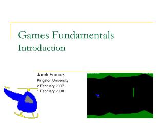 Games Fundamentals Introduction