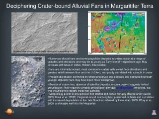 Deciphering Crater-bound Alluvial Fans in Margaritifer Terra