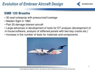 Evolution of Embraer Aircraft Design